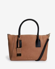 Large leather tote bag - Light Brown | Bags | Ted Baker ROW