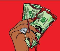 dope art money, gangsta, and thug image Black Girl Cartoon, Dope Cartoon Art, Dope Cartoons, Cartoon Logo, Black Love Art, Black Girl Art, Black Girls, Pop Art Girl, Arte Dope