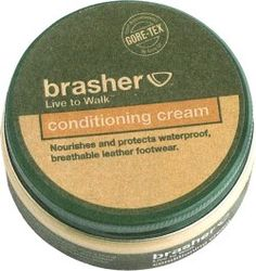 BRASHER Leather Conditioner The Brasher Leather Conditioner is a water-based wax for smooth leather. It nourishes, proofs and protects without harming the breathability.For use on leather boots and shoes.... http://www.comparestoreprices.co.uk/clothing-accessories/brasher-leather-conditioner.asp