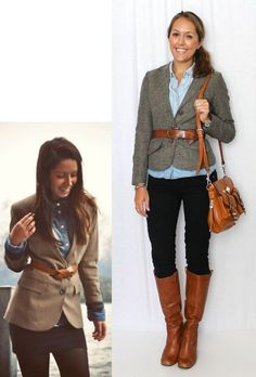 Tweed + chambray + mixing black and brown. J's Everyday Fashion