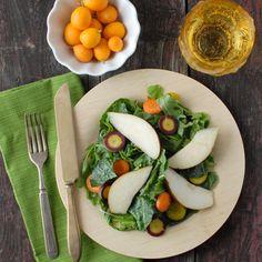 Spicy Mustard Mint Mizuna salad with Tangerine-Balsamic Dressing | Boulder Locavore