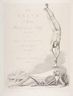 Luigi Schiavonetti (Italian, 1765–1810) After William Blake (British, 1757–1827). The Skeleton Re-Animated, Title Page to the Grave, a Poem by Robert Blair, 1813. The Metropolitan Museum of Art, New York. Harris Brisbane Dick Fund, 1917 (17.3.2887).