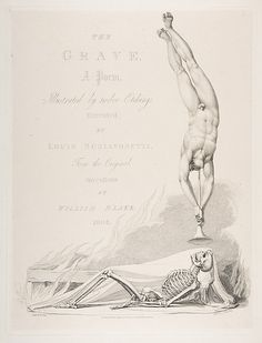 Luigi Schiavonetti (Italian, 1765–1810) After William Blake (British, 1757–1827). The Skeleton Re-Animated, Title Page to the Grave, a Poem by Robert Blair, 1813. The Metropolitan Museum of Art, New York. Harris Brisbane Dick Fund, 1917 (17.3.2887).