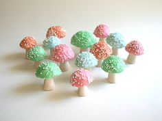 Pastel Chocolate Filled Toadstools