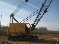 "$30000.00 1970 American 599 Crawler Lattice Boom Crane 40 Ton Capacity, Detroit GN6-71 Engine, 100' Boom, 3 Lines, 36"" Track Pads New Boom Cable 2012 Detroit, Used Construction Equipment, Crawler Crane, Oil Field, Heavy Equipment, American, Utility Pole, Engine, Track"