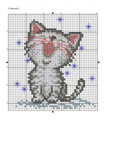 Cross Stitch For Kids, Mini Cross Stitch, Cross Stitch Heart, Cross Stitch Cards, Beaded Cross Stitch, Cross Stitch Animals, Cross Stitch Embroidery, Cat Cross Stitches, Cross Stitching