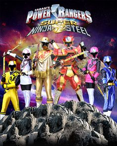 Power Rangers Super Ninja Steel by AndieMasterson Go Go Power Rangers, Todos Os Power Rangers, Samurai Power Rangers, Desenho Do Power Rangers, First Power Rangers, Power Rangers Series, Power Rangers Ninja Storm, Original Power Rangers, Power Rangers Toys