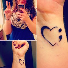 semicolon tattoo project | Tumblr