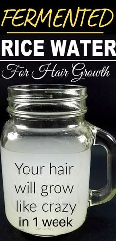 Here are 2 powerful rice water recipes for healthy, natural hair wax . - Here are 2 powerful rice water recipes for healthy, natural hair growth in just 1 week that you can - Rice Water Recipe, Water Recipes, Natural Hair Treatments, Hair Treatment Homemade, Hair Care Recipes, Hair Growth Mask Diy Recipes, Hair Wax, Wash Hair, Curly Hair