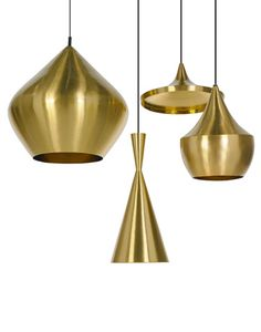 Tom Dixon Beat Light Brass Collection Nu i ren messing Brass Pendant Light, Brass Lamp, Pendant Lighting, Pendant Lamps, Tom Dixon Beat, Interior Lighting, Lighting Design, Suspension Tom Dixon, Lampe 3d