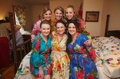 Real life Sample 1 - Bridesmaids Robes made From E2 Fabric Pattern