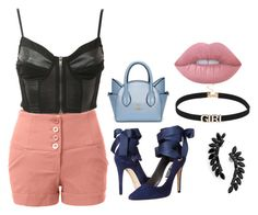 """""""sexy style"""" by amniaali on Polyvore featuring mode, LE3NO, Pilot, Alice + Olivia, Cristabelle et Lime Crime"""