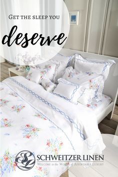 Schweitzer Linen features the finest and most comprehensive selection of bed linens My New Room, My Room, Linen Bedding, Bed Linens, Bedding Sets, Beautiful Bedrooms, Dream Bedroom, Luxury Bedding, Interior Design Living Room