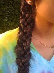 braid the 3 strands, then braid them all together