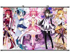 Home Decor Anime Puella Magi Madoka Magica Cosplay Wall Scroll Poster Fabric 12