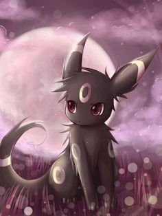 Umbreon, Im a pokemon geek. Jenna(Jays wing on dragon story) Solgaleo Pokemon, Pokemon Eeveelutions, Eevee Evolutions, Pokemon Fan Art, Images Kawaii, Pokemon Mignon, Umbreon And Espeon, Shiny Umbreon, Chibi