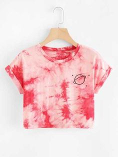 SheIn offers Water Color Cuffed Tee & more to fit your fashionable needs. SheIn offers Water Color Cuffed Tee & more to fit your fashionable needs. Girls Fashion Clothes, Teen Fashion Outfits, Outfits For Teens, Girl Outfits, Diy Fashion, Tomboy Outfits, Fashion Dresses, Tie Dye Fashion, Emo Outfits