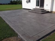 Real Help Custom Concrete Company of Buffalo and Western New York is local, licensed, and insured. We specialize in all flatwork. View our stamped concrete gallery! Poured Concrete Patio, Concrete Front Porch, Stamped Concrete, Outdoor Living, Outdoor Decor, Backyard Patio, Buffalo, House, Ideas