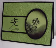 Stamping with Loll:  Tranquility - sponging, dry embossing (May 2012)