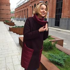 Фантастическая новость!!!!! Полюбившаяся Вам модель пальто теперь ☝️️ с утеплителем....аж до -22  ✨Внимание ✨ новый цвет бургундского вина  Размеры 42-48