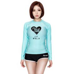 Women hot sexy long sleeve Rash Guard two pieces swimwear Surfing Suit 2017 new style wetsuit bathing suit swimsuits beach wear