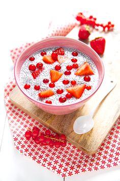 100 % Végétal: Les superaliments { + concours } >> Red fruit chia pudding