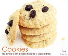 Cookies de aveia com passas negras e especiarias - Saudáveis e deliciosos!