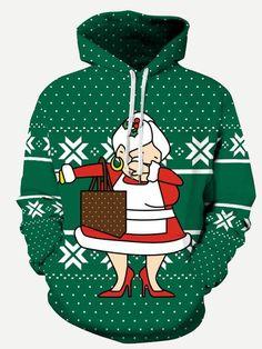 Christmas Unisex Hoodie // Hooded Top Keep Calm It/'s Xmas 9 Colours Santa