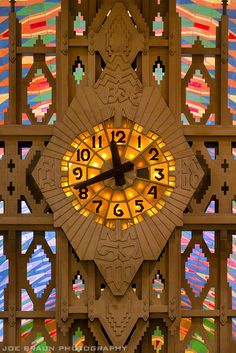 Tiffany Clock (1 of 4 in the world) in the lobby of the Guardian Building, Detroit, MI, Photo by Joe Braun