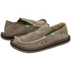 Sanuk Vagabond (Brown) Men's Slip on  Shoes (75 CAD) ❤ liked on Polyvore featuring men's fashion, men's shoes, mens shoes, mens slip on shoes, mens canvas slip on shoes, mens brown slip on shoes and mens canvas shoes