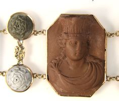 antique lava cameos   Rare Antique Victorian Hand Carved Lava Cameo Bracelet at 1stdibs