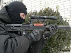 Spetsnaz operator using an OTs-14 Groza 9X39MM