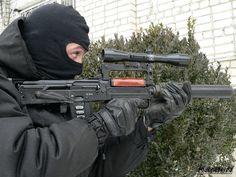 Spetsnaz operator using an OTs-14 Groza 9X39MM