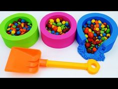 Kinetic Sand Cup Learn Colors with Shovel Toys for Children, Toddlers and Babies | Play with Shovels - YouTube