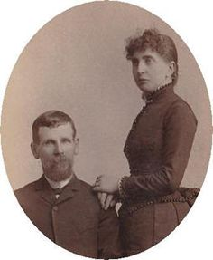 Phillips Collection featuring Morgan Earp and Louisa Houston Earp: their lives, and vintage photos.