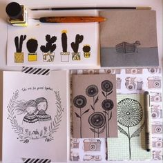 Tammy Strobel (1/5) - Flow Magazine Sketch Journal, Ink Color, Pencil Drawings, Colored Pencils, Blog, Snail Mail, Rust, Cards, Colouring Pencils
