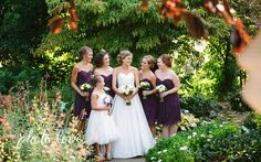 Plum and Sage Wedding Party | Wedding Party Poses