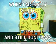 Haha this is how I feel after every test in science.