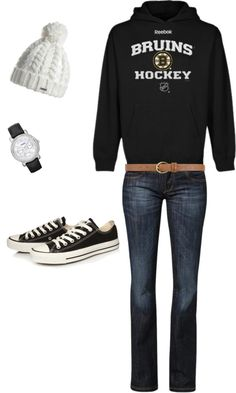 """""""Boston Bruins outfit"""" by hawks88 on Polyvore"""