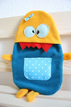 Hot water bottle cover Rosie by HappyMonstersLand on Etsy, $25.00