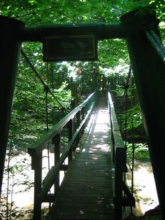 Poland Woods Suspension Bridge- LOVE!      Found the official Name it is the Mauthe Bridge