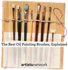 How to choose the best brushes for oil painting, tips from an expert oil painter. | #oilpainting #beginnerpainting #OilPaintingTips
