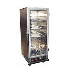 """WINHOLT Heater/Proofer Mobile Cabinet, high performance, full size, non-insulated, aluminum angle slides 1-1/2"""" O.C., capacity (17) 18"""" x 26"""" pans, aluminum construction dual proof/heat control, lift off solid door, removable control drawer, LED therm, 120V/60/1"""