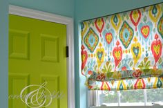 Make Your Own Roman Shades #DIY #CRAFTS