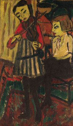 Erich Heckel Die Geigerinoil on burlap36 x 21¼in. (92 x 54cm.)Painted in 1912    mrkiki: