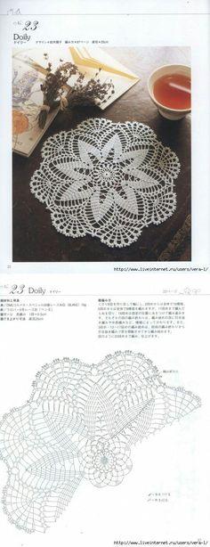 쉬우면서 심플한 도일리에요^0^♥ 도일리뜨시는데 도움되셨음 좋겠어용♬ 출처: Pinterest