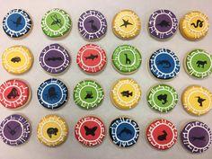 Wild Kratts - Kratt's creatures cookies by @cookiesbykatewi #wildkratts #powerdiscs #kids #birthday
