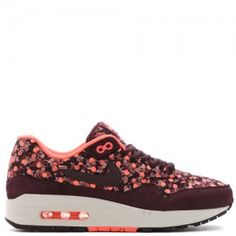 official photos ed1dd fa54c Dam Nike Air Max 1 OG Liberty Pack QS Djup Burgundy