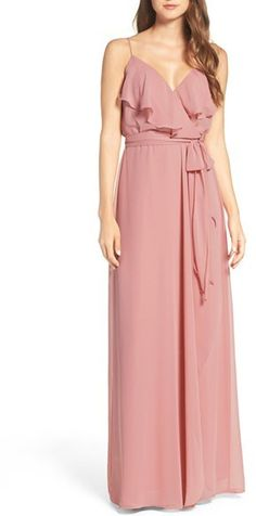 Women's Nouvelle Amsale 'Drew' Ruffle Front Chiffon Gown   http://shopstyle.it/l/b6Eq