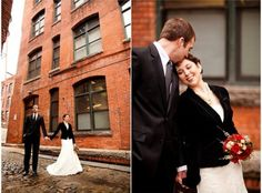 Wedding dress with blazer